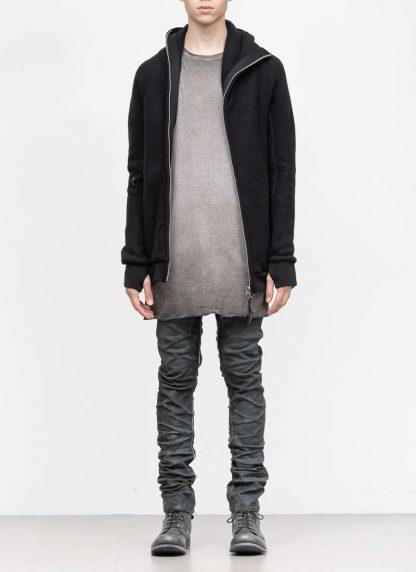BORIS BIDJAN SABERI roots men herren ninja zip hoodie jacket ZIPPER2 FWT00001 CO WO PA WS black hide m 3
