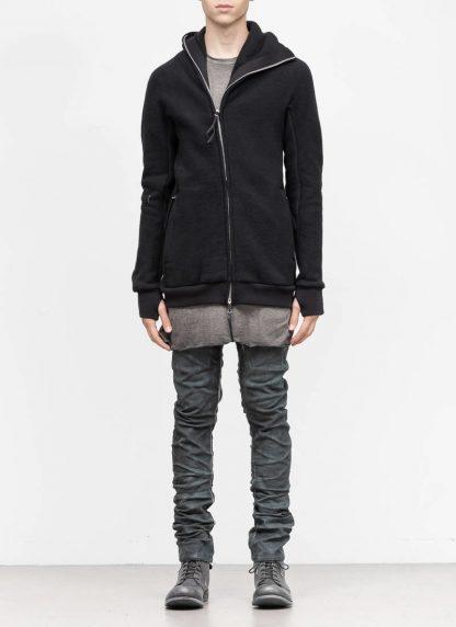 BORIS BIDJAN SABERI roots men herren ninja zip hoodie jacket ZIPPER2 FWT00001 CO WO PA WS black hide m 4