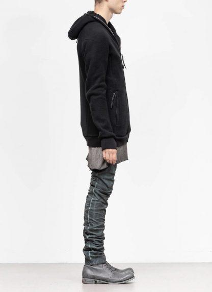 BORIS BIDJAN SABERI roots men herren ninja zip hoodie jacket ZIPPER2 FWT00001 CO WO PA WS black hide m 5