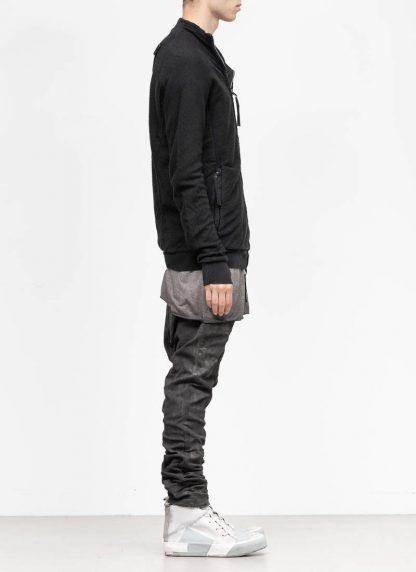 BORIS BIDJAN SABERI roots men zip jacket ZIPPER1 FMV00026 cotton black hide m 4