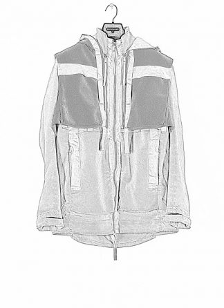 BORIS BIDJAN SABERI ss20 PARKA2 men jacket herren jacke FET10004 FET10004 R cotton pl ea light grey hide m 1