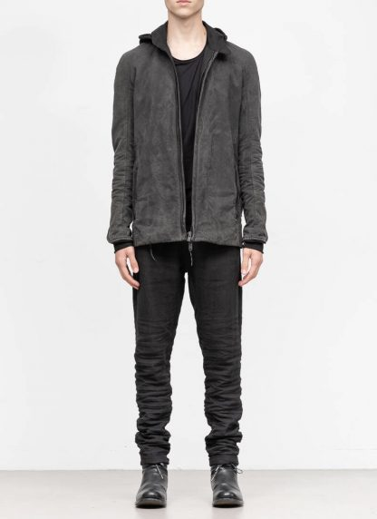 LAYER 0 Alessio Zero men E caban jacket with backpack herren jacke canvas cotton grey hide m 3