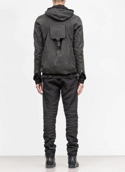 LAYER 0 Alessio Zero men E caban jacket with backpack herren jacke canvas cotton grey hide m 6