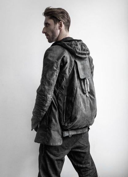 LAYER 0 Alessio Zero men E caban jacket with backpack herren jacke canvas cotton grey hide m 7