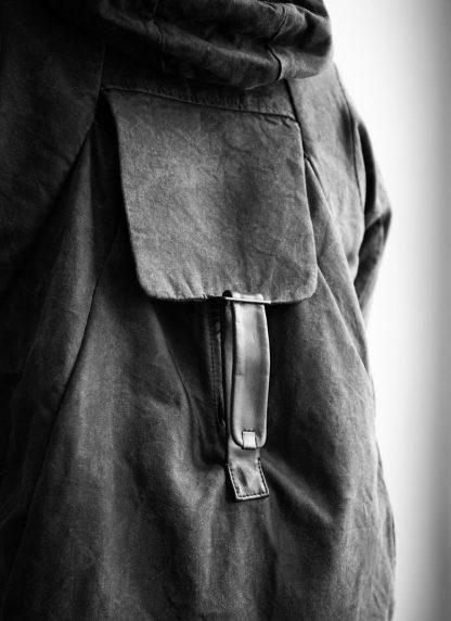 LAYER 0 Alessio Zero men E caban jacket with backpack herren jacke canvas cotton grey hide m 8