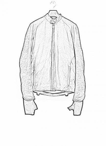 LAYER 0 Alessio Zero men E jacket with backpack herren jacke calf leather black hide m 1