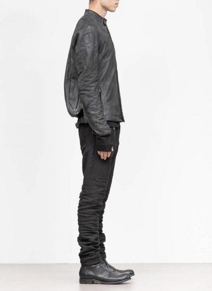 LAYER 0 Alessio Zero men E jacket with backpack herren jacke calf leather black hide m 5 1