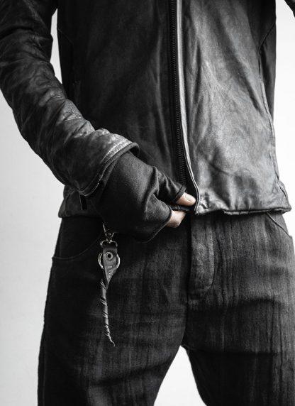 LAYER 0 Alessio Zero men E jacket with backpack herren jacke calf leather black hide m 5