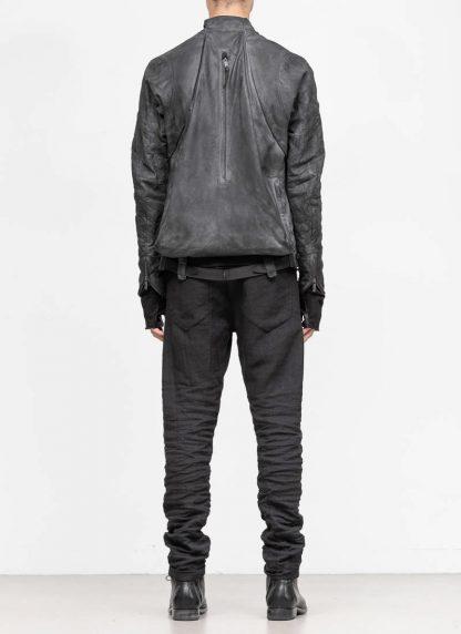 LAYER 0 Alessio Zero men E jacket with backpack herren jacke calf leather black hide m 6 1