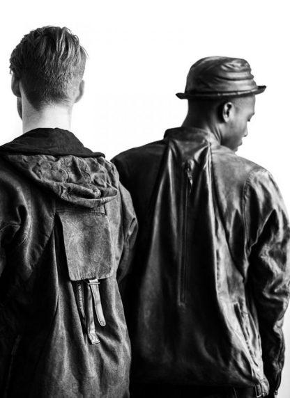 LAYER 0 Alessio Zero men E jacket with backpack herren jacke calf leather black hide m 6