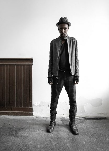 LAYER 0 Alessio Zero men E jacket with backpack herren jacke calf leather black hide m 7