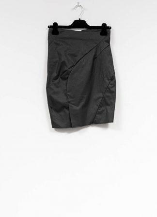 LEON EMANUEL BLANCK women distortion pencil skirt rock DIS W PS 01 cotton elasthan coated T200 black hide m 2