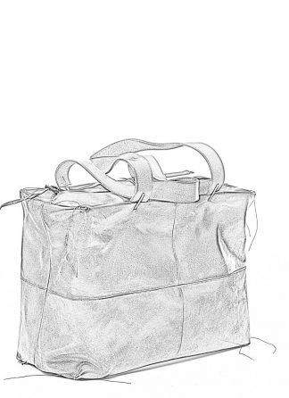 M.A MAURIZIO AMADEI women double handle patch work bag damen tasche BQ33 CUL horse leather black hide m 1