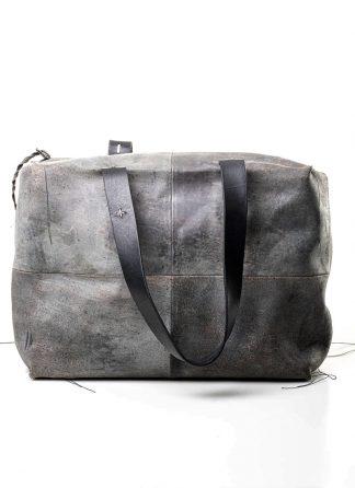 M.A MAURIZIO AMADEI women double handle patch work bag damen tasche BQ33 CUX.R horse leather hand painted black coal hide m 2