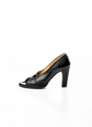 M.A MAURIZIO AMADEI women over lapped high heels damen schuh SW7T1 VI 1.3 calf leather black hide m 2