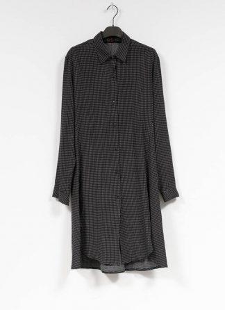 M.A MAURIZIO AMADEI women oversize long shirt HW300L RTC ramie tencel cotton black with white crosses hide m 2