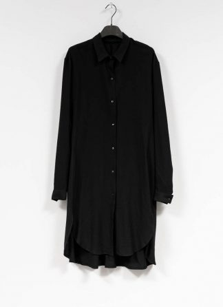 M.A MAURIZIO AMADEI women oversize long shirt hemd HW300L VWV7 viscose virgin wool elastan black hide m 2