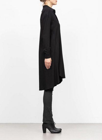 M.A MAURIZIO AMADEI women oversize long shirt hemd HW300L VWV7 viscose virgin wool elastan black hide m 4