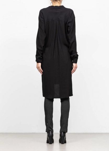 M.A MAURIZIO AMADEI women oversize long shirt hemd HW300L VWV7 viscose virgin wool elastan black hide m 5