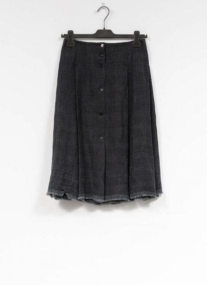 M.A MAURIZIO AMADEI women skirt damen rock K1028 LCCK linen cotton denim blue hide m 2