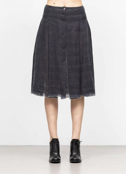 M.A MAURIZIO AMADEI women skirt damen rock K1028 LCCK linen cotton denim blue hide m 3
