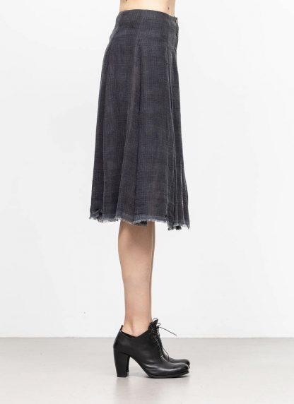 M.A MAURIZIO AMADEI women skirt damen rock K1028 LCCK linen cotton denim blue hide m 4