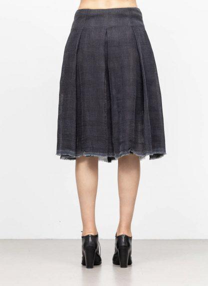 M.A MAURIZIO AMADEI women skirt damen rock K1028 LCCK linen cotton denim blue hide m 5