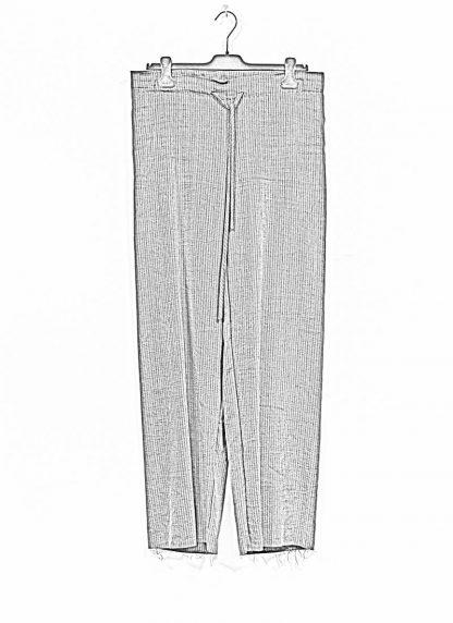 M.A MAURIZIO AMADEI women wide outer drawstring pants PW444 LVC flax viscose cotton coal stripes hide m 1