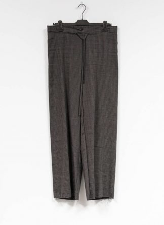 M.A MAURIZIO AMADEI women wide outer drawstring pants PW444 LVC flax viscose cotton coal stripes hide m 2