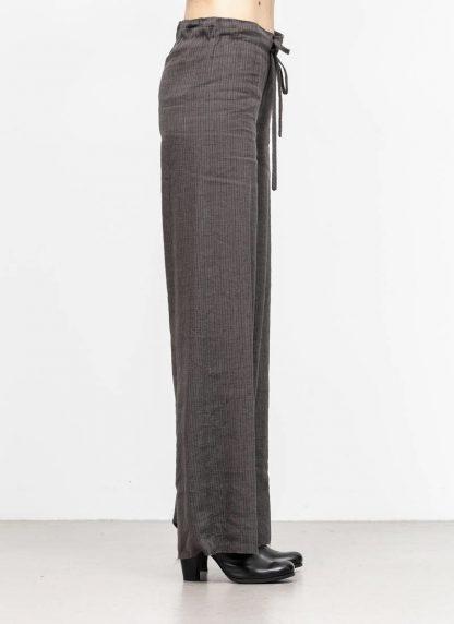 M.A MAURIZIO AMADEI women wide outer drawstring pants PW444 LVC flax viscose cotton coal stripes hide m 4