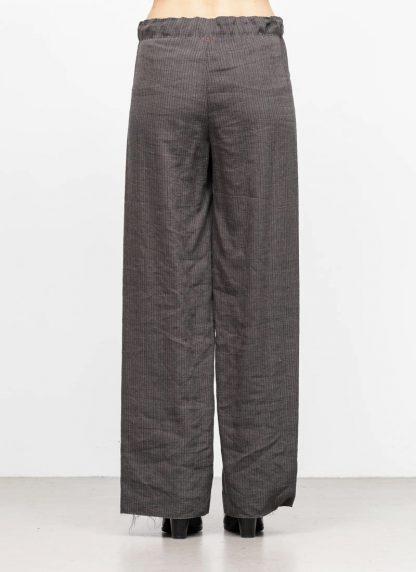 M.A MAURIZIO AMADEI women wide outer drawstring pants PW444 LVC flax viscose cotton coal stripes hide m 5