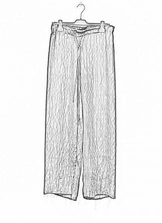 M.A MAURIZIO AMADEI women wide outer drawstring pants PW444 SP1 silk black hide m 1
