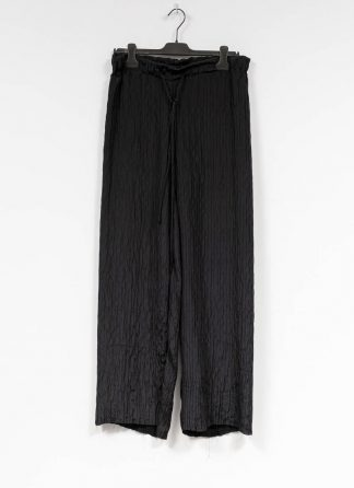M.A MAURIZIO AMADEI women wide outer drawstring pants PW444 SP1 silk black hide m 2