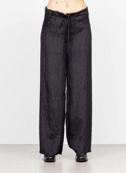 M.A MAURIZIO AMADEI women wide outer drawstring pants PW444 SP1 silk black hide m 3