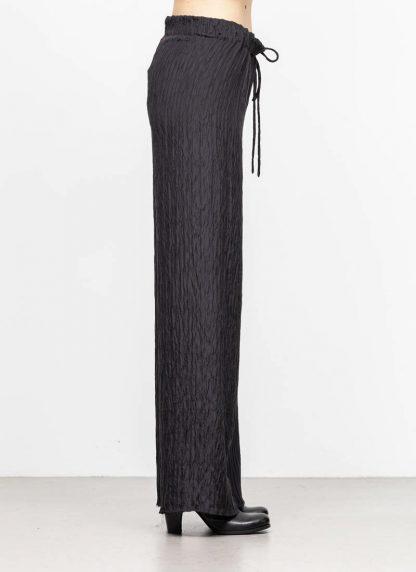 M.A MAURIZIO AMADEI women wide outer drawstring pants PW444 SP1 silk black hide m 4