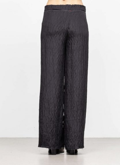M.A MAURIZIO AMADEI women wide outer drawstring pants PW444 SP1 silk black hide m 5