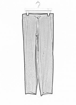 M.A MAURIZIO AMADEI women wide outer drawstring pants hose PW444 VWSTR viscose wool black with stripes hide m 1