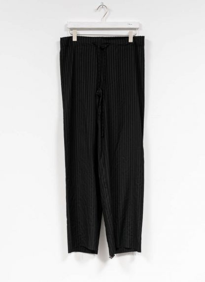 M.A MAURIZIO AMADEI women wide outer drawstring pants hose PW444 VWSTR viscose wool black with stripes hide m 2