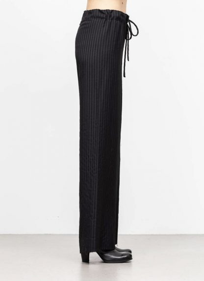 M.A MAURIZIO AMADEI women wide outer drawstring pants hose PW444 VWSTR viscose wool black with stripes hide m 4