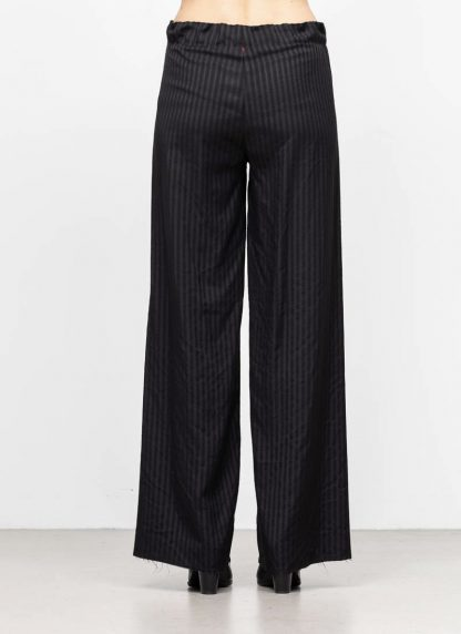 M.A MAURIZIO AMADEI women wide outer drawstring pants hose PW444 VWSTR viscose wool black with stripes hide m 5