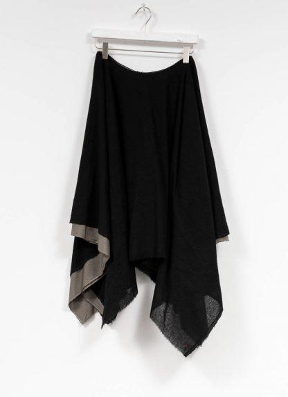 M.A MAURIZIO AMADEI women zipped square skirt damen rock K621M WVPK POPS2 virgin wool polyamide cashmere black coal hide m 2