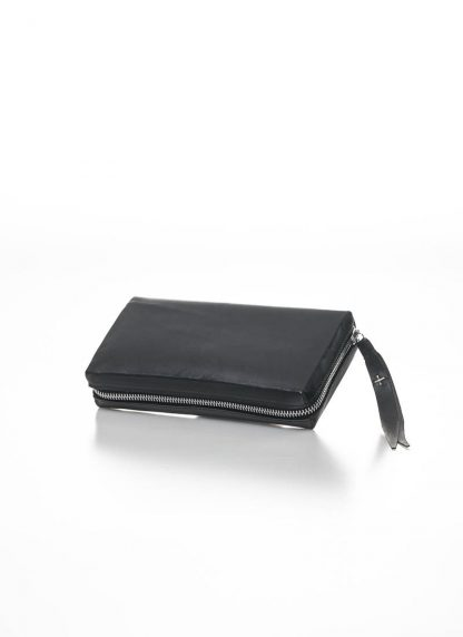 M.A MAURIZIO AMADEI zipped extra large wallet W11LZ VA 1.5 vachetta cow leather 925 sterling silver black hide m 3