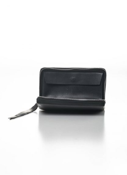 M.A MAURIZIO AMADEI zipped extra large wallet W11LZ VA 1.5 vachetta cow leather 925 sterling silver black hide m 4