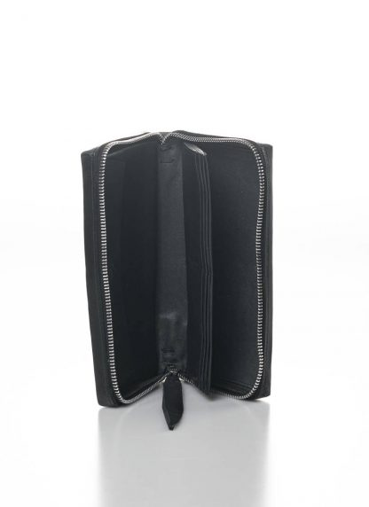 M.A MAURIZIO AMADEI zipped extra large wallet W11LZ VA 1.5 vachetta cow leather 925 sterling silver black hide m 5
