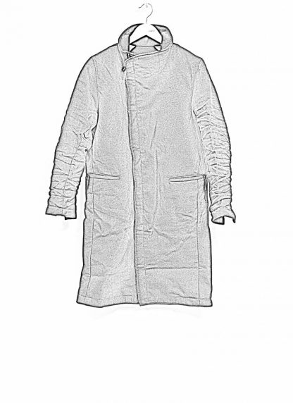 TAICHI MURAKAMI fw1920 men parka herren mantel high neck coat carded wool ramie gabardine black hide m 1