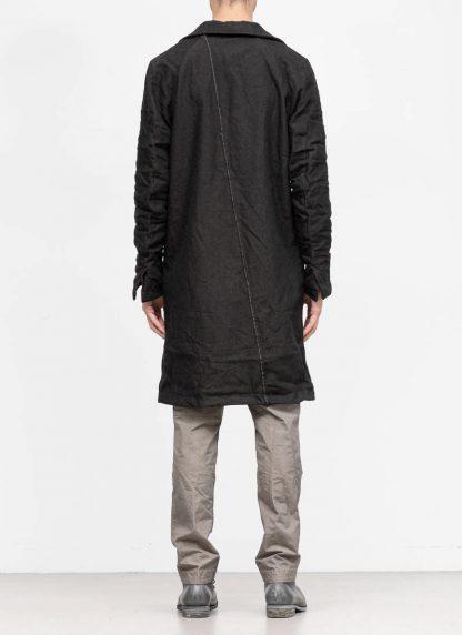 TAICHI MURAKAMI fw1920 men parka herren mantel high neck coat carded wool ramie gabardine black hide m 6
