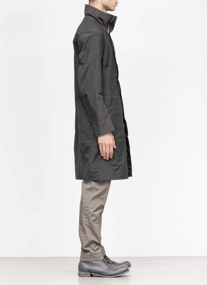 TAICHI MURAKAMI fw1920 men parka herren mantel regenjacke high neck coat origami sleeve 3 layer nylon wp steel black hide m 5