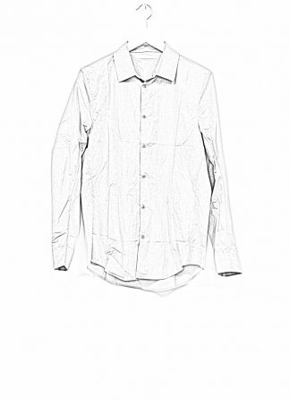 TAICHI MURAKAMI men inside shirt button down hemd FW1920 zimbabwe light cotton light grey hide m 1