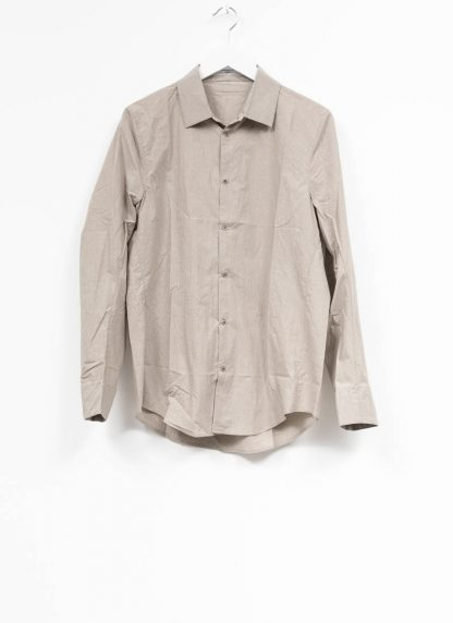 TAICHI MURAKAMI men inside shirt button down hemd FW1920 zimbabwe light cotton light grey hide m 2