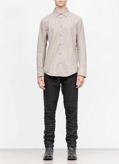 TAICHI MURAKAMI men inside shirt button down hemd FW1920 zimbabwe light cotton light grey hide m 3